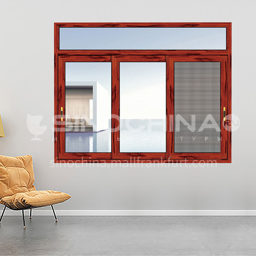 1.4mm sound insulation and heat insulation three-track sliding window with stainless steel gauze 4