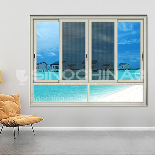 1.4mm sound insulation and heat insulation three-track sliding window with stainless steel gauze 6