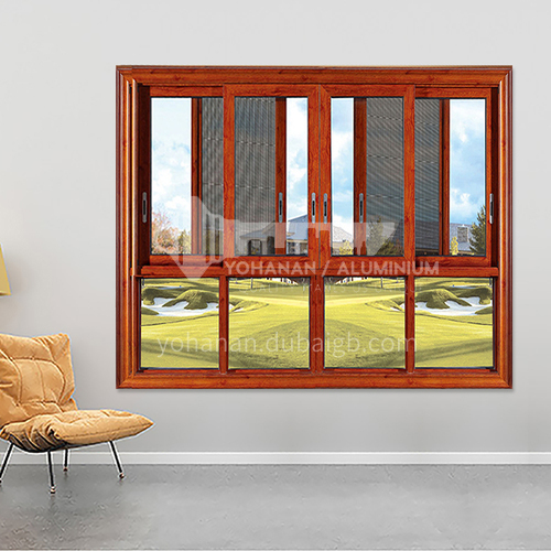 1.4mm sound insulation and heat insulation three-track sliding window with stainless steel gauze 7