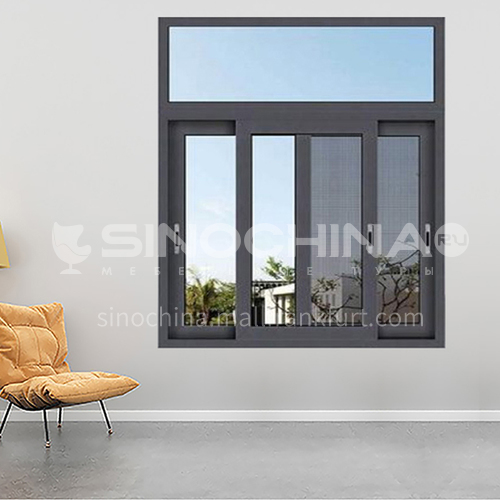 1.4mm sound insulation and heat insulation three-track sliding window with stainless steel gauze 8