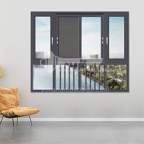 1.4mm sound insulation and heat insulation three-track sliding window with stainless steel gauze 9