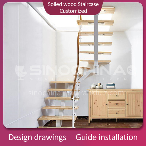 Solid wood pedal staircase RD02-1