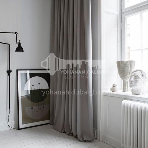 2021 latest design simple modern style gray light luxury living room heat insulation blackout curtain DFSK-CSZG45