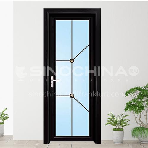 1.4mm  Aluminium casement door with decoration glass