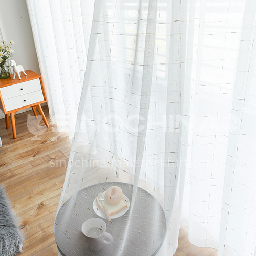 2021 simple style white curtain gauze DFSK-DF-JSYS