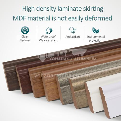 High density laminate composite skirting YG