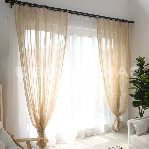 Window Screening Living Room Curtains Nordic Simple Bedroom Balcony Screen Shading Linen Curtain Fabric DFSK-JXS29