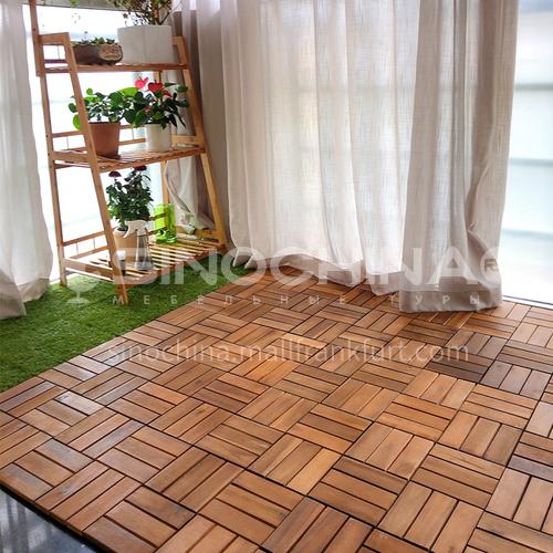 Acacia wood balcony floor DIY splicing household floor ZY