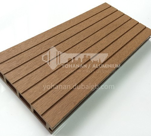 WPC outdoor floor with 12 grooves on one side and 6 grooves on the other side
