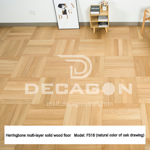 15mm multi-layer solid wood right angle parquet flooring F518