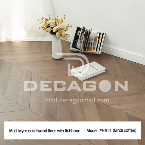 15mm multi-layer solid wood fish bone flooring FH-FY-SC