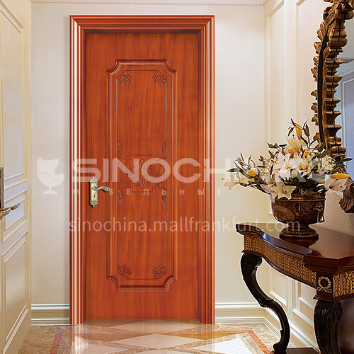 WPC wood plastic paint door simple carved style