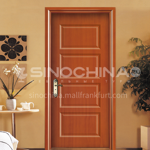 WPC wood plastic paint door simple style waterproof, sound insulation, heat insulation, insect-proof
