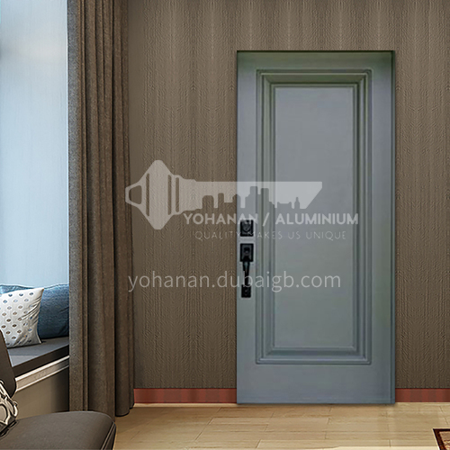 B solid wood walnut natural solid wood door three-dimensional solid wood line gray door leaf price does not include frame 11