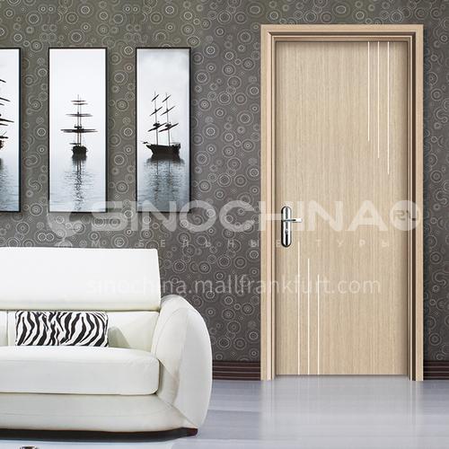 WPC wood-plastic door simple style series bathroom door waterproof and moisture-proof flame-retardant wooden door