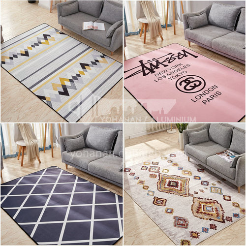 Living room carpet household abstract simple modern bedroom Nordic trend living room carpet thickness of 0.8cm 101