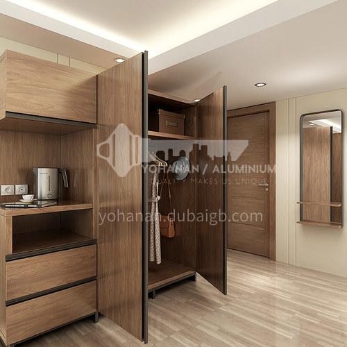 Modern design Laminate finish kitchen cabinets-YG18-HPL01