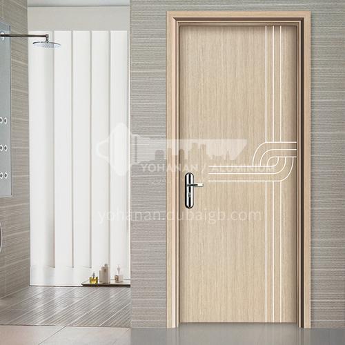 WPC wood plastic door simple style paint-free environmental protection door bathroom door