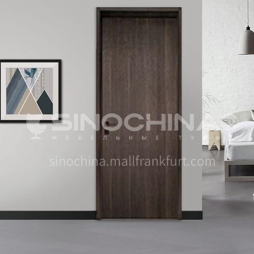 Modern style ecological wear-resistant aluminum wooden door-European walnut