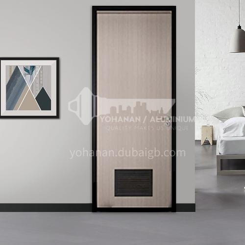 Ecological wear-resistant plate for aluminum wooden door