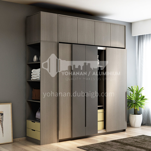 Modern style melamine with particle board sliding door wardrobe GW-232