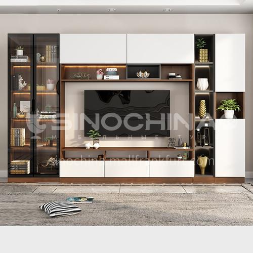 High-gloss glass modern style TV cabinet GF-030