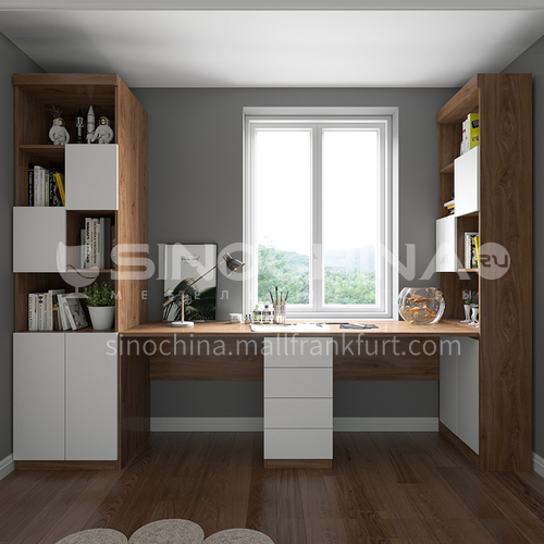 Custom cabinet modern style double facing particle board-GF-081