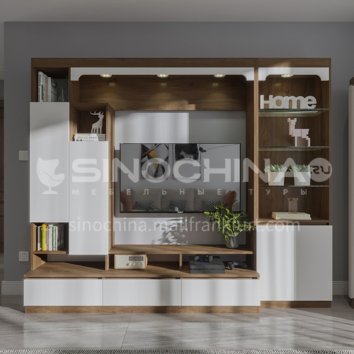 Customized Cabinet Modern Style Double Facing Particle Board-GF-083