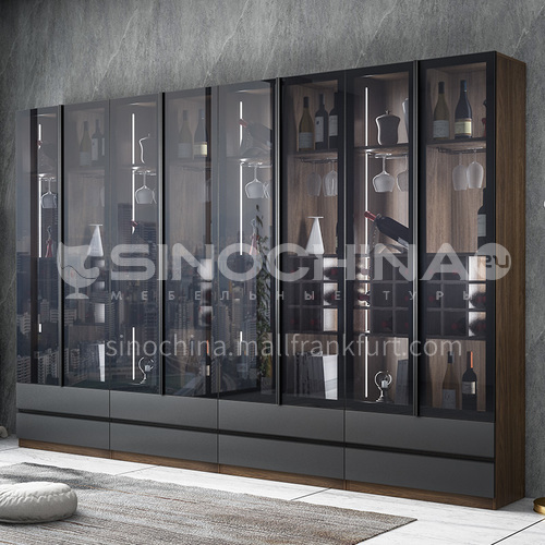 Tempered glass modern style custom cabinet GF-086
