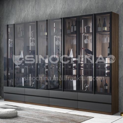 Tempered glass modern style custom cabinet GF-086