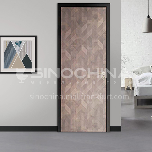 Fashion narrow side aluminum wooden door