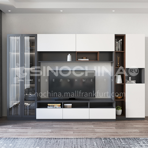 Modern style double-faced particle board custom cabinet-GF-091
