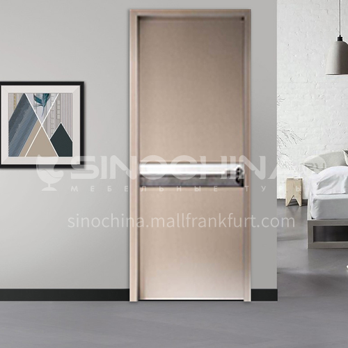 Modern minimalist aluminum wooden door