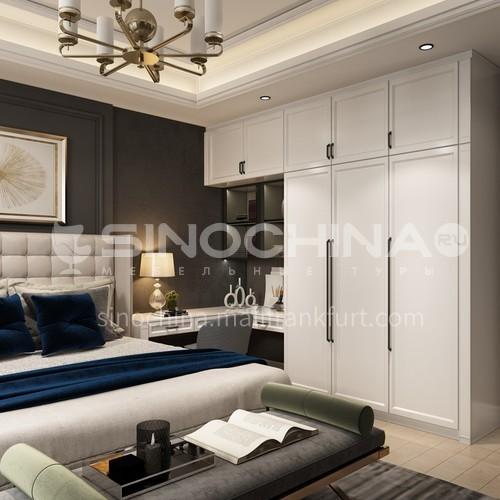 European style wardrobe classical PVC WITH HDF wardrobe-GW-097