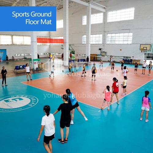 Volleyball rubber badminton rubber mat table tennis basketball pvc plastic sports floor mat