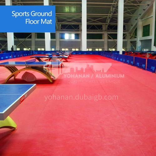 Indoor table tennis playground special floor rubber professional table tennis indoor floor rubber PVC sports floor