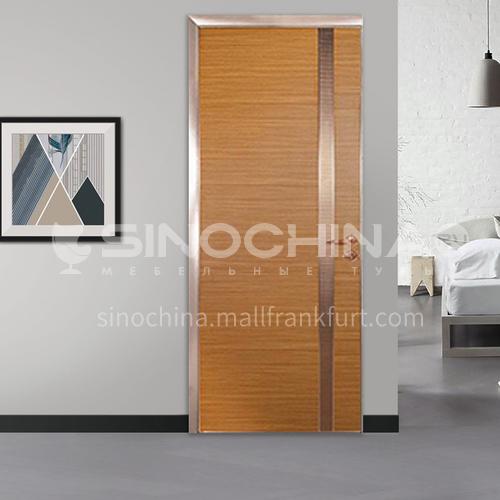 Modern light luxury wear-resistant scratch-resistant aluminum wooden door