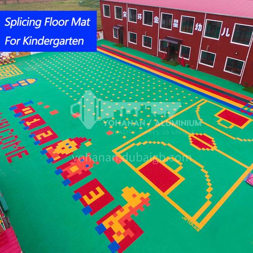 Kindergarten outdoor suspension floor splicing mat basketball court outdoor assembly sports floor plastic non-slip