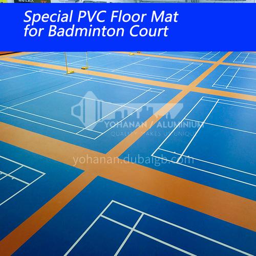 Badminton court rubber mat table tennis indoor rubber basketball court PVC plastic sports floor