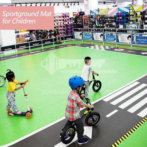 Professional custom kindergarten floor rubber children personalized custom floor rubber mat children basketball court training pvc floor
