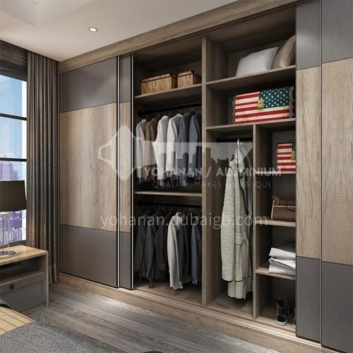 Modern style melamine with particle board sliding door wardrobe GW-194