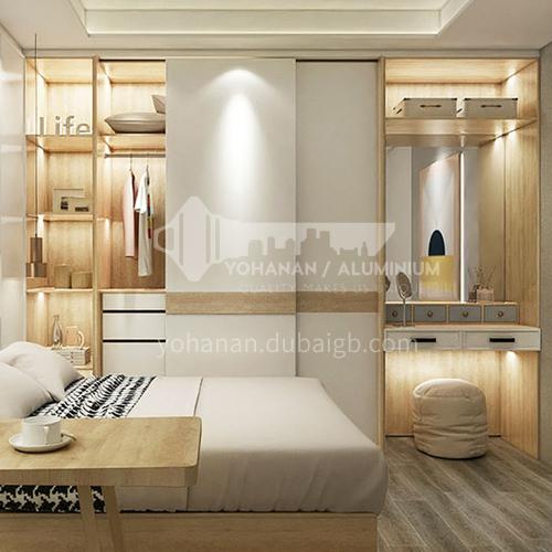 Modern Style White melamine with particle board Sliding Door Wardrobe GW-195