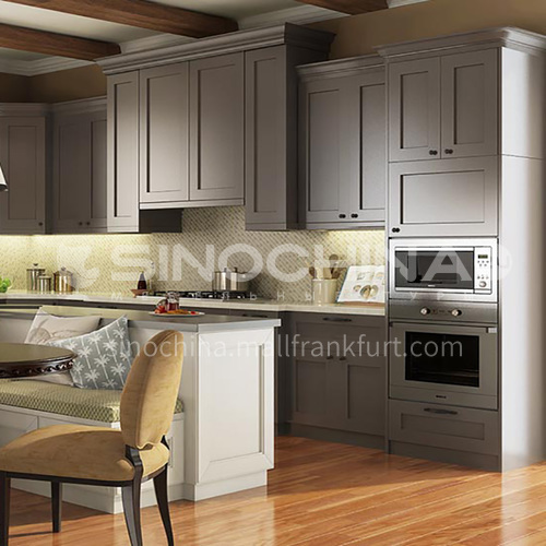 European style classical kitchen PVC with HDF- GK-346