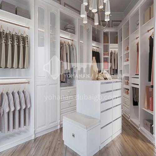 European style wardrobe classical PVC WITH HDF wardrobe-GW-175