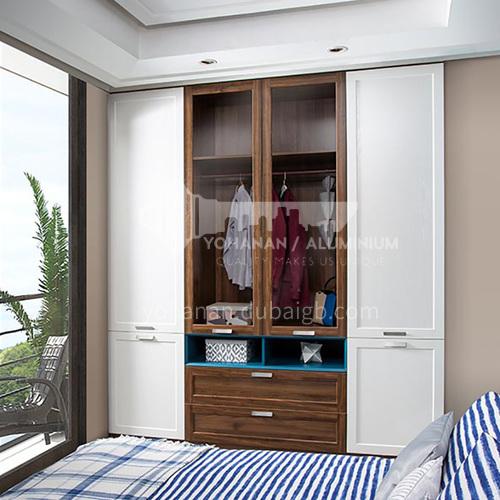 European style wardrobe classical PVC WITH HDF wardrobe-GW-241
