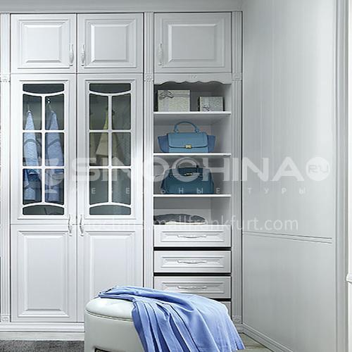 European style wardrobe classical PVC WITH HDF wardrobe-GW-250