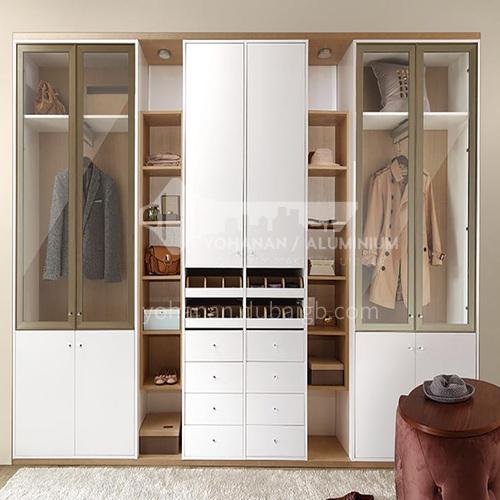 European style wardrobe classical PVC WITH HDF wardrobe-GW-260