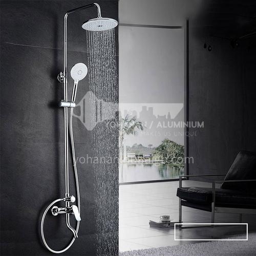 Bathroom multifunctional stainless steel bright silver shower set