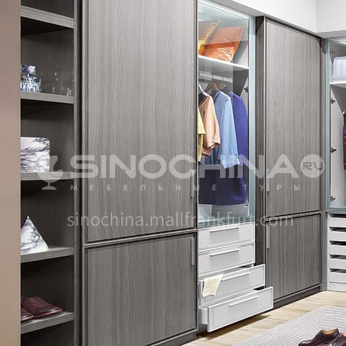 European style wardrobe PVC WITH HDF wardrobe-GW-246