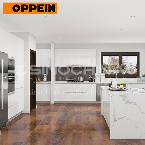 Modern style UV Lacquer with HDF open kitchen OP19-L01